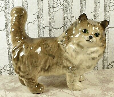 Lovely Vintage Beswick Cat Figure :~ 1898 Persian Cat Standing • 16.99£