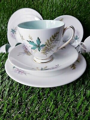 Queen Anne.. Louise  Fine Bone China Mint Green Tea Cup Saucer & Side Plate • 14.99£