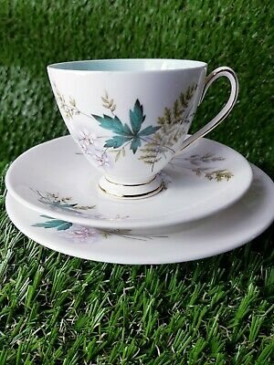 Queen Anne.. Louise  Fine Bone China Mint Green Tea Cup Saucer & Side Plate • 9.99£