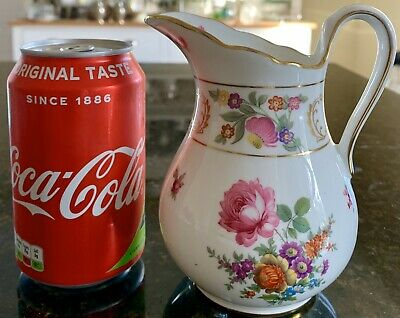 """Vintage Hammersley Dresden Sprays Jug PERFECT! Just Over 5"""" Inches Tall • 28.99£"""
