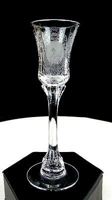 Heisey Glass Etch #503 Minuet #5010 Long Stem 5 3/8  Clear Cordial 1939-1956 • 70.75£
