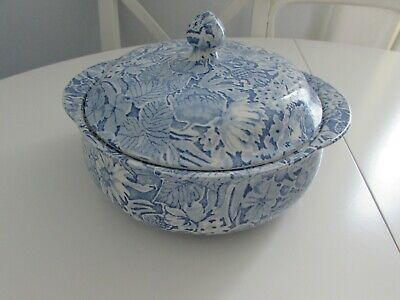 Burleigh Ware - Scilla By Lillian Delevoryas Tureen / Vegetable Dish With Lid  • 47£