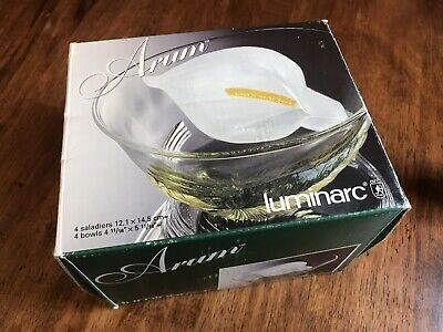 Vintage Luminarc Arum France Bowls/Dishes In Box, Never Been Used • 25£