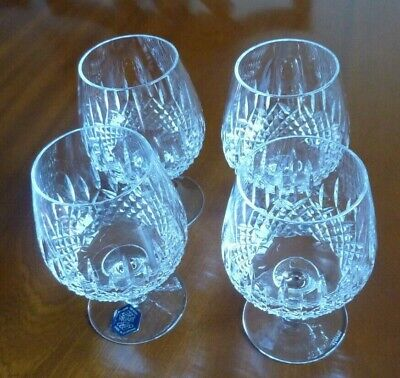 4 X Webb Lead Crystal Brandy Goblets - Excellent Condition • 19£