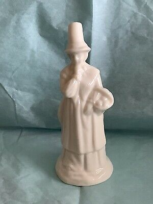 W H Goss White Glazed Welsh Lady Candle Snuffer • 30£