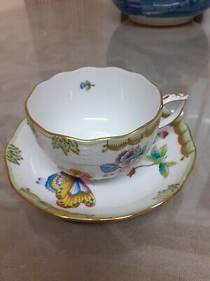 Herend Queen  Victoria  Cup And Saucer  • 100£