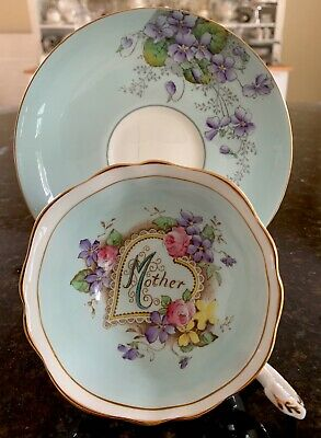 Paragon Cabinet Teacup & Saucer MOTHER With Double Crown Marks • 39.99£