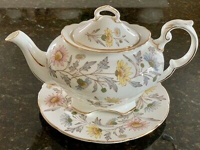 Coalport Somerset One Pint Floral Teapot And Foley Somerset Tea Plate • 55£
