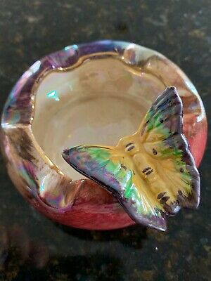 Old Court Ware Pottery Lustre Butterfly Ashtray  • 7.99£
