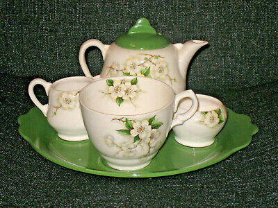 Royal Staffordshire By Clarice Cliff - Blossom Time - Bachelor Tea Set • 49£