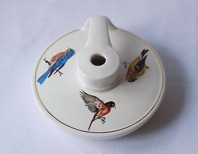 Vintage Holkham Pottery Wee Willie Winkie Lamp Base.decorated With British Birds • 16.99£