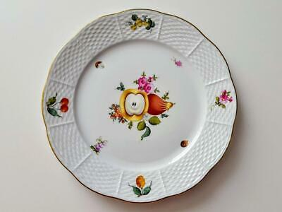 Herend Fruits & Flowers 9 Inch Dinner / Salad Plate #521/BFRN - 1st Quality • 35£