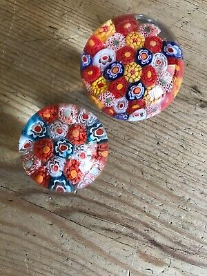 Two Millefiori Paper Weights • 3.40£