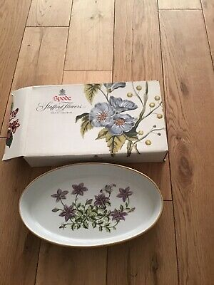 """Spode Stafford Flowers  Campanula  Oval Dish 10"""" Boxed • 5.95£"""