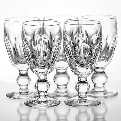 Waterford Crystal Kathleen 5 Sherry 3 Oz Glasses Signed Gothic Mark H.4 1/4  • 19.99£