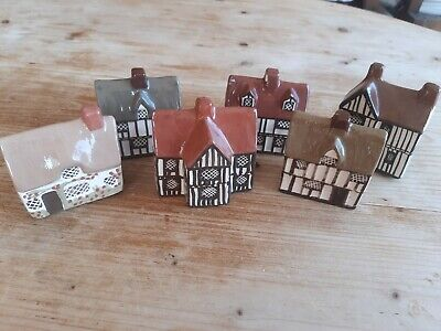 Mudlen End Studio Felsham Suffolk Pottery Houses Collection Of 6 1976-1978 • 19.99£