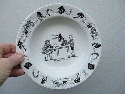 An Antique Nursery Plate Bowl-Children's Corner-Gramophone-Aunt Ruth Uncle Bob. • 14.99£