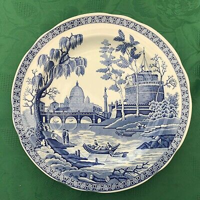 A Spode Plate From The Blue Room Collection  Called 'Rome' • 20£