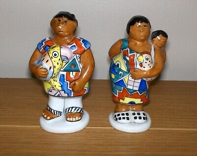 Villeroy & Boch Salt And Pepper Pots Tribial Family 1748 • 9.99£