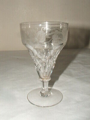 Victorian/ Georgian Facet Cut Etched Lead Crystal Sherry Glass Truly Stunning • 9.99£