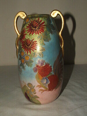 Carlton Ware Art Deco Fighting Cockerells Twin Handled Vase As Found  • 9.99£
