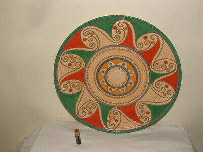 Crown Ducal Art Deco Charlotte Rhead Arabian Scroll Wall Plate/ Charger Stunning • 49.99£