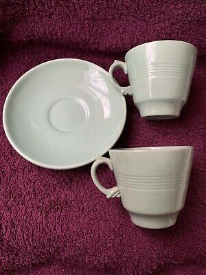 Vintage Retro Woods Ware Beryl Cup And Saucer X 2 • 4.99£