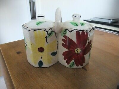 Lovely Pair Of Art Deco Preserve Pots With Handle By Arthur Wood • 2.99£