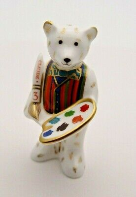 Fine Royal Crown Derby Claude Teddy Bear Paperweight - First Quality - Perfect • 24.99£