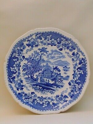 Vintage Seaforth Woods Ware Blue And White Plate        1895 • 5.50£