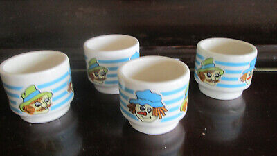 4 X Vintage Hornsea Pottery Egg Cups, Clown Decorated • 1.99£