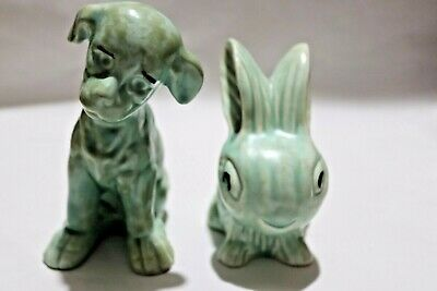 Two Sylvac Style Avon Figures Of A Rabbit & Dog. • 5£