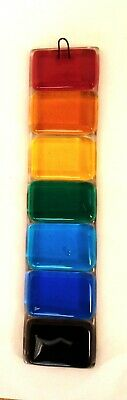 Fused Glass Sun Catcher Light Catcher Rainbow Colours  NHS Donation Included • 7.50£