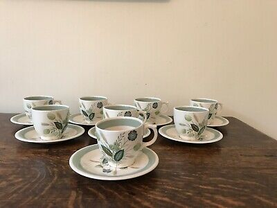 Woods Ware Clovelly Coffee Cups Demitasse X 8 - Excellent Condition • 16£