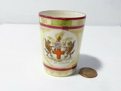 CITY OF LONDON Crested China GEMMA Porcelain Miniature Tumbler 6.5cm Tall  • 25£