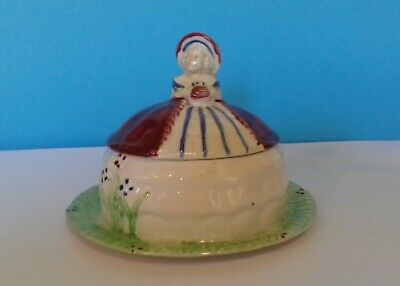 Shorter And Son Crinoline Lady Lidded Butter Dish • 15£