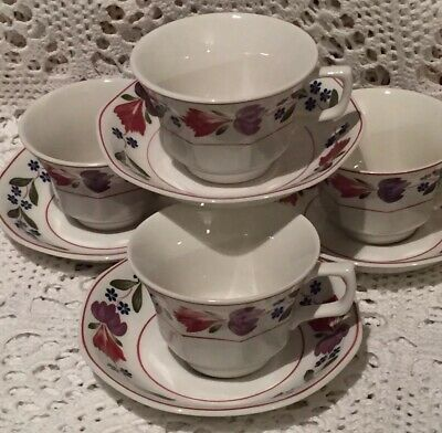 4x Adams Old Colonial Tea Cups Saucers More Listed • 18£