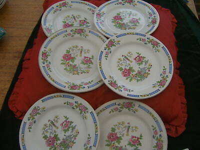 Lord Nelson.   Pottery T'sing     Vintage. Set 6  Vintage. Breakfast Plates  • 28£