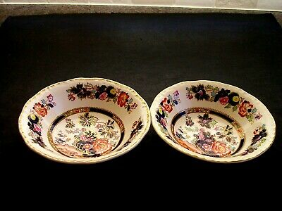 2 Masons Mandarin Fruit Dishes/saucers...6  Diameter... • 9.95£