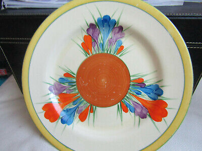 Clarice Cliff Crocus Plate Hand Painted • 4.99£