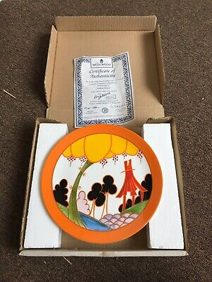 Limited Edition Wedgewood Clarice Cliff Plate - With Box And Certificate • 10£
