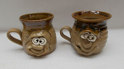 Pretty Ugly Pottery Mugs X 2 - Made In Wales • 15£