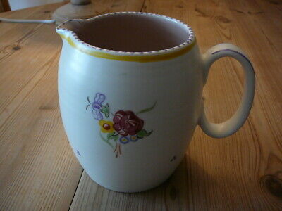 Poole Pottery Large Hand Painted Jug  (BL 17 05) RL • 12£