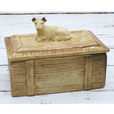 Rare / Early Vintage Sylvac Butter Dish - Cow & Crate • 45£