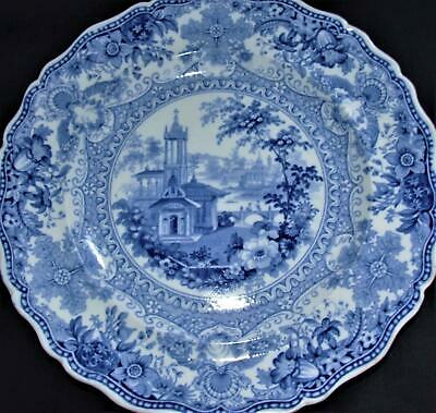 GEORGIAN Antique Blue And White PEARLWARE Transfer Ware Plate POUNTNEY Bristol ! • 45£