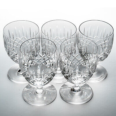 Edinburgh Crystal Five Appin Gin & Tonic Glasses - 2 Signed - G&T • 39.99£