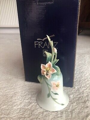 Beautiful Franz Porcelain Bee Bell Fz00326 Boxed • 30£