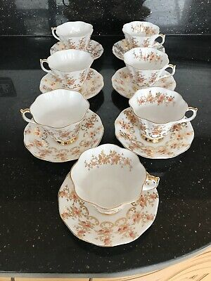 🖤Queen Anne 167 Bone China 7 Cups And Saucers🖤 • 45.99£