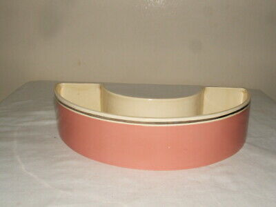 Clarice Cliff Bizarre Pink & Silver Curved Flower Trough  Fabulous & V Rare • 29.99£