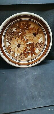 Jersey Pottery Dish Brown Floral Design • 2.50£
